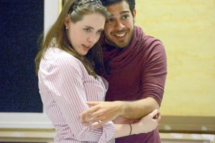 "Meredith Lustig, 26, and Juan Jose De Leon, 28, rehearse for ""Il Matrimonio Segreto."""