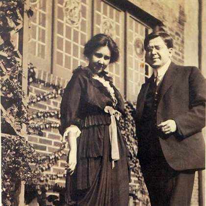 A photograph supplied by David McMunn shows John T. Comès and his wife.