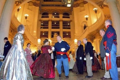 Dancers wore period dress for the 2012 Civil War Ball.