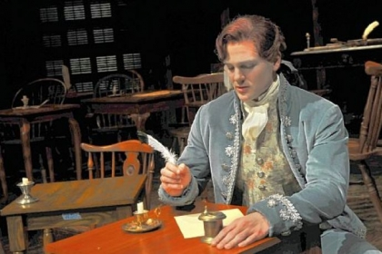 Keith Hines plays Thomas Jefferson in the Pittsburgh Public Theater production of the musical &quot;1776.&quot;