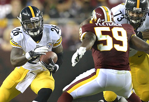 Steelers halfbacks keep running into trouble