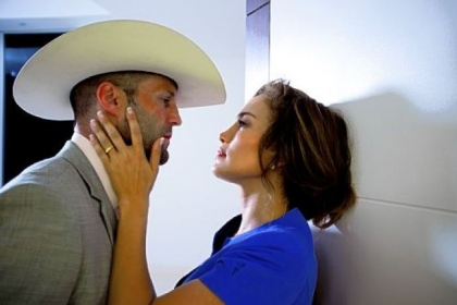 "Jason Statham and Jennifer Lopez star in ""Parker."""