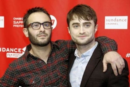 "Director John Krokidas, left, and actor Daniel Radcliffe at the premiere of ""Kill Your Darlings"" during the 2013 Sundance Film Festival. Mr. Radcliffe portrays a young Allen Ginsberg who is on the receiving end of sexual acts from both men and women."