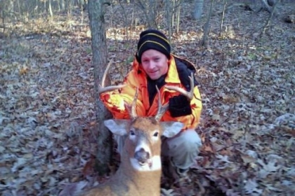 Angelo Runco of Bloomfield took his buck on Nov. 26, 2012, the first day of the statewide rifle deer season, while hunting with his father on a friend&#039;s farm near Kittanning.