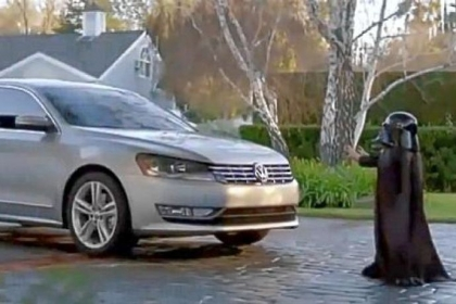 The One Club, a marketing industry nonprofit, has picked the top 10 automobile commercials of the past 25 years: Third place went to a spot for the 2012 Volkswagen Passat that featured a child dressed as Darth Vader being startled when his hidden parents turn the car on remotely.