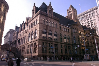 The Allegheny County Courthouse in Downtown Pittsburgh.