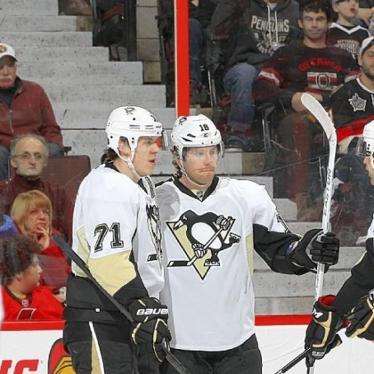 James Neal, right, had the Penguins only goal in regulation -- in the first period. Evgeni Malkin, left, scored the winner in the shootout.