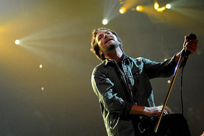 Pearl Jam, lead by Eddie Vedder, kicked off its world tour at Consol Energy Center Friday night.