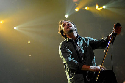 Pearl Jam, led by Eddie Vedder, kicked off its world tour at Consol Energy Center Friday night.