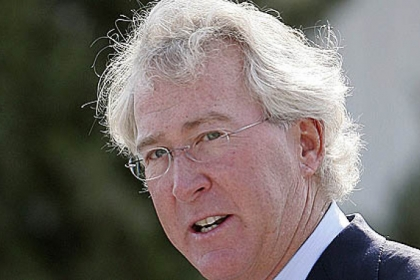 Aubrey McClendon, CEO of the Chesapeake Energy and seen in a 2009 photo, says he'll leave the firm in April, citing philosophical differences with its board of directors.