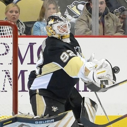 The Penguins had to call on backup goalie Tomas Vokoun after Marc-Andre Fleury struggled mightily in Tuesday's 4-1 loss to the Islanders.