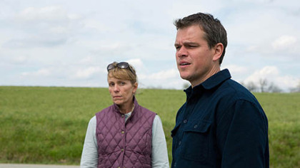 "Frances McDormand and Matt Damon in ""Promsied Land."""