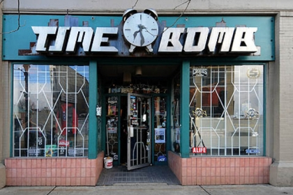 Brian Brick, owner of the Time Bomb shop in Shadyside was surprised to learn a backpack with a logo from his shop left at a bus stop caused a bomb squad response. He first used the name for his school band in the early 90s, and brought it to his South Highland Ave. shop. His shop selling clothing items emblazoned with a variety of Time Bomb logos.