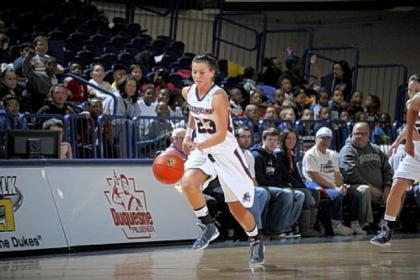Baldwin High School grad Belma Nurkic is averaging 8.2 points per game for Duquesne this season.