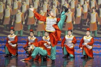 "In past performances, Shen Yun's large traditional Chinese dance numbers are broken up by mini ""dance-dramas"" that depict the persecution of Falun Gong members by Chinese soldiers."
