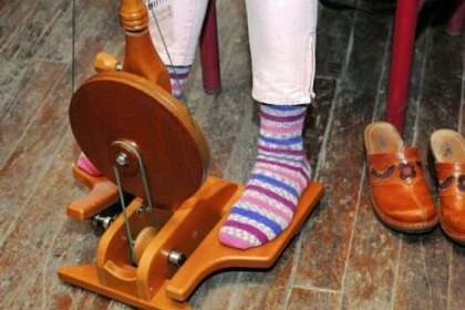 Almost every member of the Loyalhannon Spinners Guild has made at least one pair of socks. These were made by Christine Williamson from Hunker.