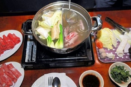 Shabu shabu prepared at Sun Penang on Forbes Avenue in Squirrel Hill is a delightful dish for sharing.