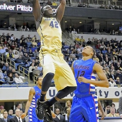 Pitt's Talib Zanna (42) has gone through somewhat of a slump in Big East play as his scoring average has dipped from 13.1 points per game to 8.3 per game in conference games.