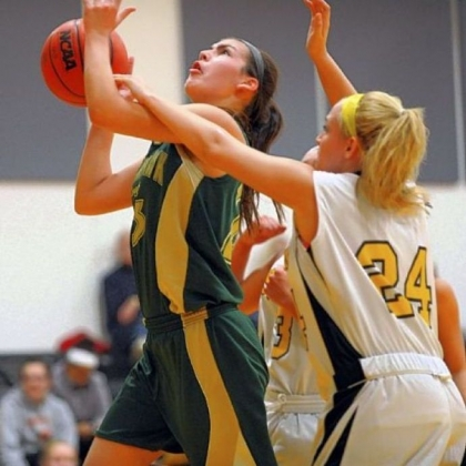 Blackhawk's Courtney Vannoy (with ball) is one of five starters averaging doubled digits in scoring.