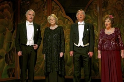 "Billy Connolly, Maggie Smith, Tom Courtenay and Pauline Collins find that some reunions are off-key in ""Quartet."""