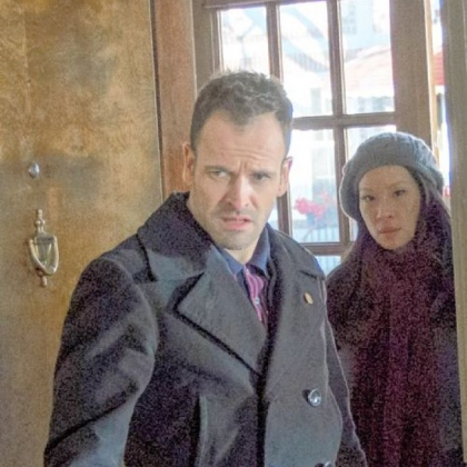 Sherlock (Jonny Lee Miller) and Watson (Lucy Liu) pursue an unpredictable criminal, before he strikes again, on &quot;Elementary,&quot; airing Sunday after the Super Bowl on CBS.