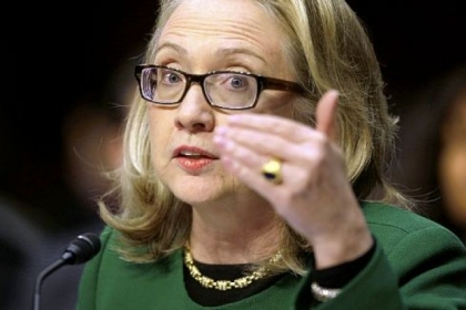 Secretary of State Hillary Rodham Clinton testifies on Capitol Hill before the Senate Foreign Relations Committee hearing on the deadly September attack on the U.S. diplomatic mission in Benghazi, Libya, that killed Ambassador Chris Stevens and three other Americans.