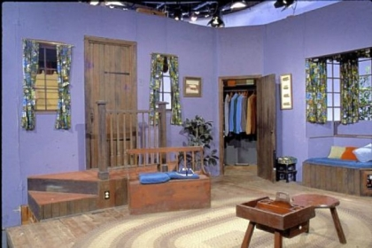 """Mister Rogers' Neighborhood"" living room set, part of ""1968: The Year That Rocked America."""