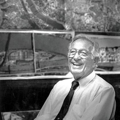 Jack Buncher in his Squirrel Hill office in 1991.