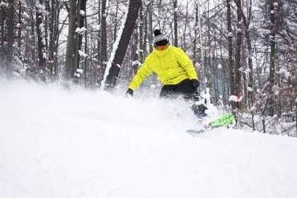 Andrew Bock is a snowboard instructor at Peek'n Peak Resort, 22 miles east of Erie in Findley Lake, N.Y. The Inn at The Peak, a Tudor-style structure built in 1964, has had a $2 million renovation under the ownership of Scott Enterprises.