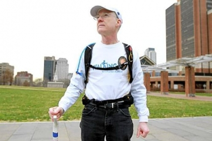 Dave Brown, a retired Vanguard IT specialist and Navy veteran, will walk across the United States in late February, from Atlantic City, N.J., to San Francisco, roughly tracing the path of the old National Road, to commemorate the August 2011 death of his wife, Joan, from ovarian cancer.