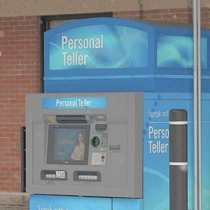 "Dollar Bank has installed a ""personal teller machine"" in the Virginia Manor shopping center in Mt. Lebanon."