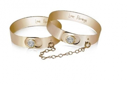 Yellow gold and diamond Love Always double-chain bracelet, $8,100.