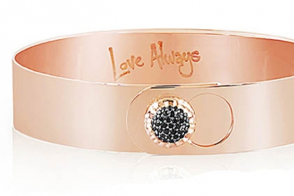 Rose gold and black diamond Love Always bracelet, $3,850.