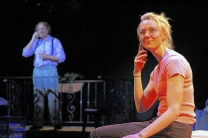 "Jodi Gage portays Becky Foster in the Playhouse REP's ""Becky's New Car."""