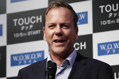 Actor Kiefer Sutherland has been named Man of the Year by Harvard University's Hasty Pudding Theatricals.