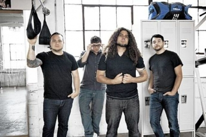 Coheed and Cambria: Travis Stever, Josh Eppard, Claudio Sanchez and Zach Cooper.