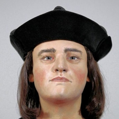 A facial reconstruction of King Richard III was unveiled Tuesday at the Society of Antiquaries in London.