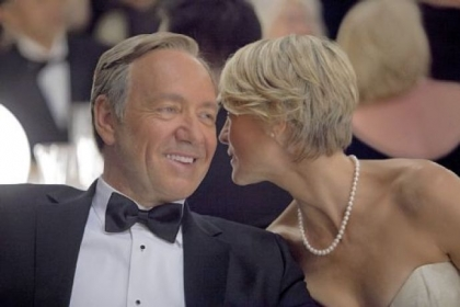 "Kevin Spacey and Robin Wright star in ""House of Cards."""