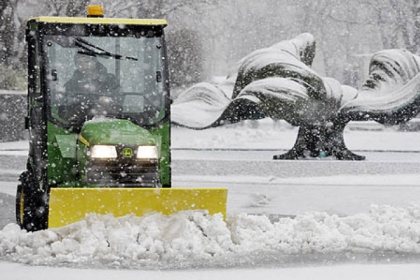 Plows were out in full force in Buffalo, N.Y. today.