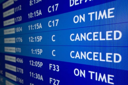 Two flights to Boston are listed as canceled at Philadelphia International Airport on Friday.