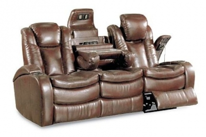 The reclining Optimus has lights, electric outlets, hidden storage and more.