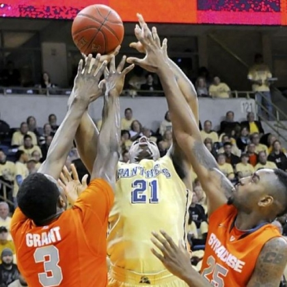 Pitt's Lamar Patterson drives to the net against Syracuse Feb. 2. The Panthers are outrebounding teams by an average of 11 per game over the past seven games.
