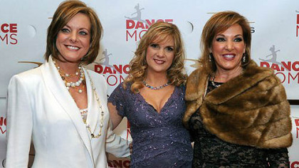 """Dance Moms"" Kelly Hyland, left, Melissa Ziegler and Jill Vertes were on hand Tuesday at the Rivers Casino for the season three premiere of their Lifetime reality show.