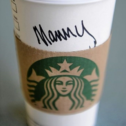 Annie ordered a coffee. Came back as &quot;Manny.&quot;