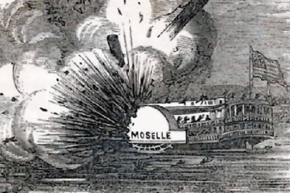 The explosion of the riverboat Moselle near Cincinnati led to the first federal regulation of private industry, the 1838 Steamboat Act.
