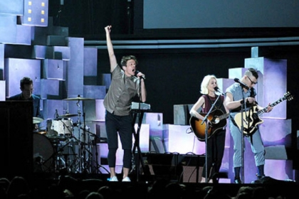 The band fun. - Grammy winner as best new artist - performs at the 55th annual awards ceremony on Feb. 10 in Los Angeles.