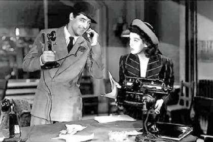 "It's just like ""His Girl Friday"" around here."