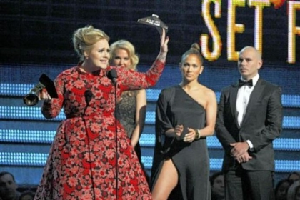 "Adele won the Grammy for Pop Solo Performance for ""Set Fire to the Rain."""