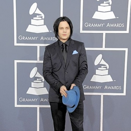 Jack White at the 55th annual Grammy Awards.
