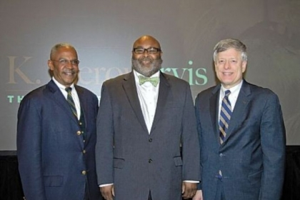 Robert Hill, Samuel Black and Chancellor Mark Nordenberg.